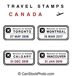 timbres, canada, passeport