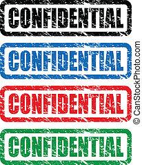 timbres, confidentiel