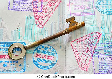 timbres, entiers, passeport, clã©