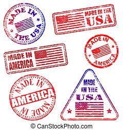 timbres, fait, amérique