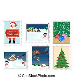 timbres, noël, collection