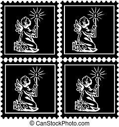 timbres, noir, ange