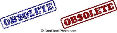 timbres, obsolète, bleu, surfaces, arrondi, grunge, rectangle, rouges