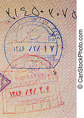 timbres, passeport, iranien