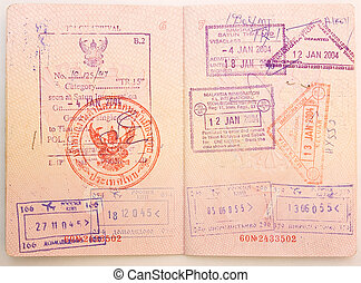 timbres, passeport