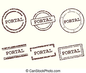 timbres, portail