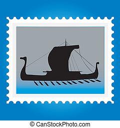 timbres-poste, bateaux
