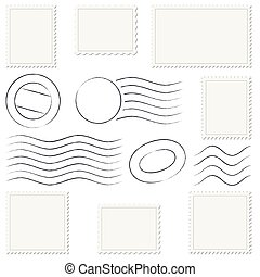 timbres, poste, collection, marques