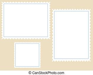 timbres-poste, trois, vide