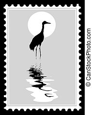 timbres-poste, vecteur
