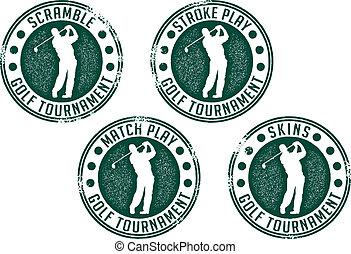 timbres, tournoi, golf