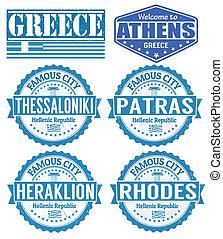 timbres, villes, grèce
