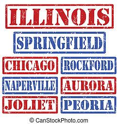 timbres, villes, illinois