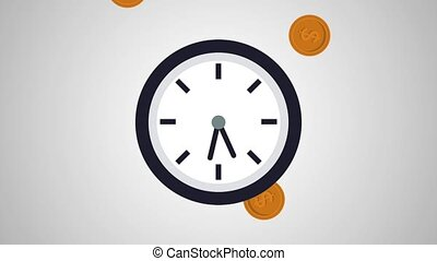 Time and money HD animation
