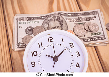 Time and money with vintage color effected