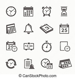 Time and Schedule icons - Time and Schedule stroke symbol...