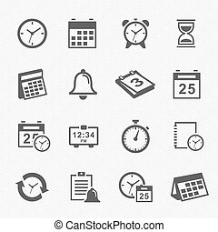 Time and Schedule icons