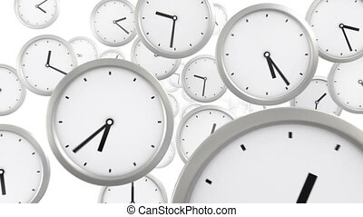 time background, seamless looped 3d animation