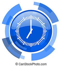 time blue glossy circle modern web icon