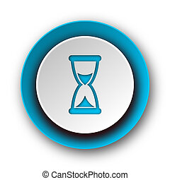 time blue modern web icon on white background