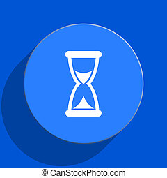 time blue web flat icon