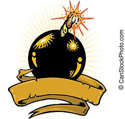 Time bomb banner vector illustration