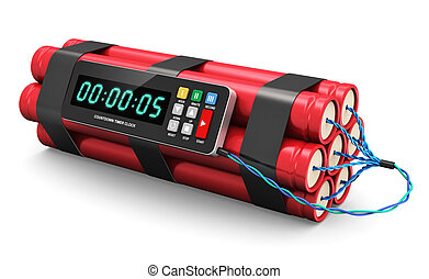 Time bomb - TNT time bomb explosive with digital countdown...