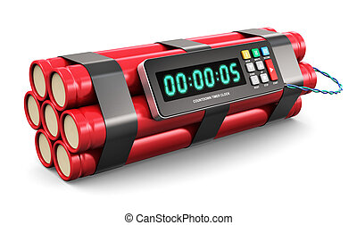 Time bomb - TNT time bomb explosive with digital countdown ...