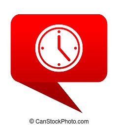 time bubble red icon