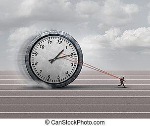 Time Burden - Time burden business concept as a burdened...