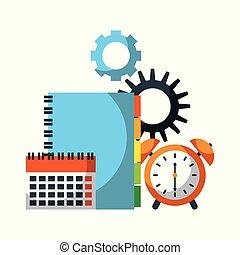 time business clock alert calendar address book