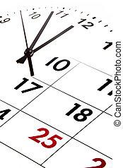 Time  - Calendar blending into clock face.
