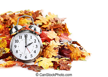 Time Change Daylight Savings - Alarm clock in colorful...