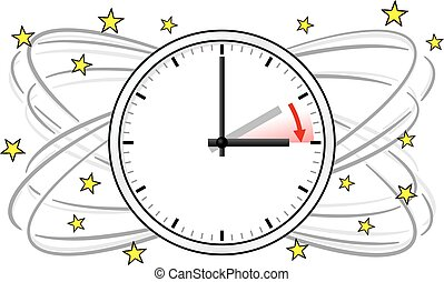 time change to daylight saving time  vector illustration