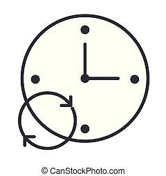 time clock cartoon
