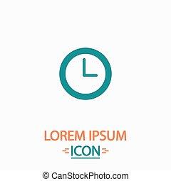Time clock computer symbol