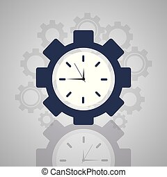 time clock gear work solution business