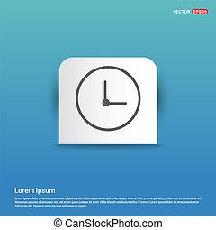 Time, clock icon - Blue Sticker button