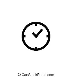Time clock icon design template vector