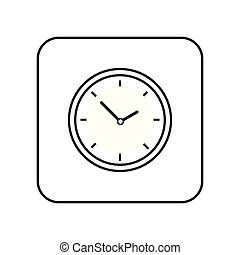 Time clock icon line vector isolated on white