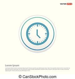 Time, clock icon - white circle button