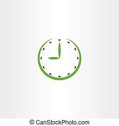 time clock vector icon symbol