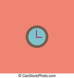 time clock vector icon