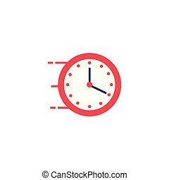 time clock wall flat style icon