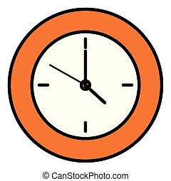 time clock wall isolated icon