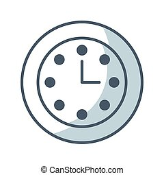 time clock watch flat icon