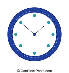 time clock watch flat style icon