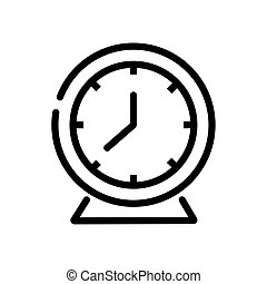 time clock watch line style icon