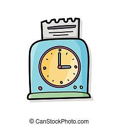 Time clocks doodle