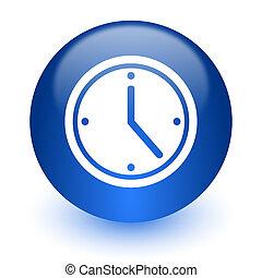time computer icon on white background - web icon on white ...